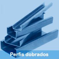 Perfis estruturais largamente utilizados para estruturas metálicas, coberturas, fechamentos e relacionados
