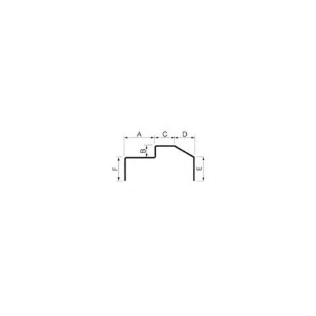 Batente Cadeirinha Modulada Linha 25 N. 209 (3mts)