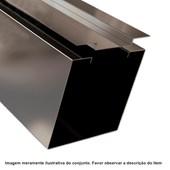 Caixa P/portão Basculante 150 X 150 Preto 18 (2,5mts)