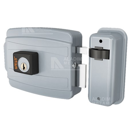 Fechadura Stam 35329-elétrica 40mm Abre P/ Fora Acetinado