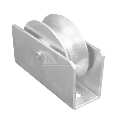 Roldana 4´ X 20mm C/rolamento/suporte/parafuso 1/2cana