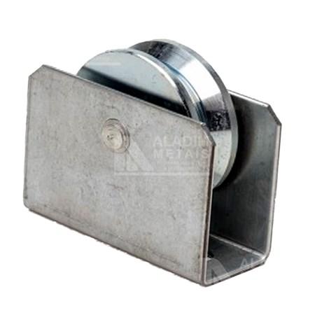 Roldana 4´ X 20mm C/rolamento/suporte/parafuso Em V