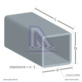 Tubo Quadrado Metalon 100 X 100 1,50 Fina Quente (6mts)