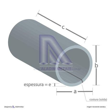 Tubo Redondo Metalon 1 Polegada 1,50 Fina Quente (6mts)