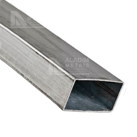 Tubo Retangular 40 x 20 x 0,75mm Galvanizado (6mts)